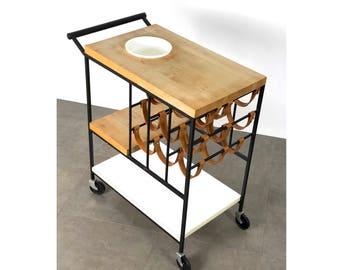 Modernist Bar Serving Cart by Arthur Umanoff 1950's
