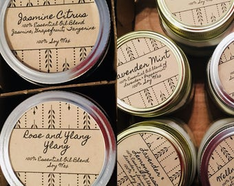 Essential Oil Soy Wax Candles