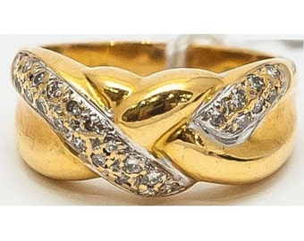 Bague torsadée Mineralife en or jaune et diamants