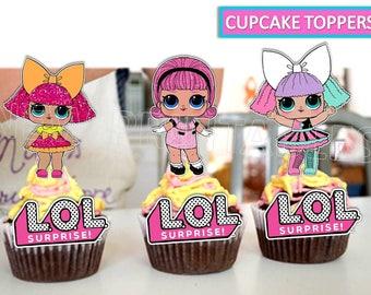 Lol Surprise Cupcake Toppers Lol Surprise Party Lol Surprise