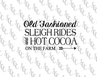 Reusable Stencil - Sleigh Rides & Hot Cocoa - Many Sizes to Choose from!