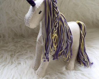 Lavender Wool felt Unicorn