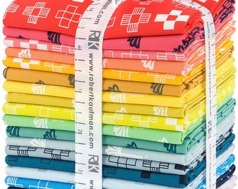 Blueberry park  fat quarter pack brights color story  by Karen Lewis for Robert Kaufman
