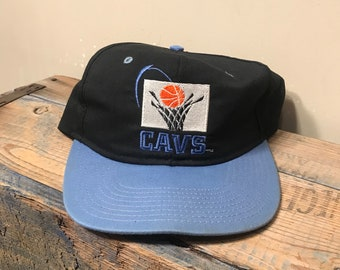 Vintage Cleveland Cavaliers hat // throwback cap // Cavs hat // Mark Price // retro logo 90s // two tone // AJD snapback