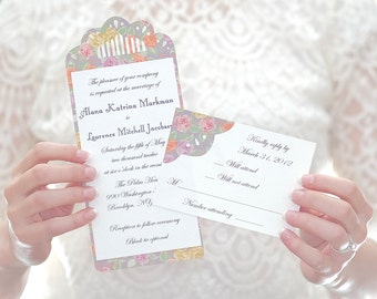 Floral Lace Invitation Suite