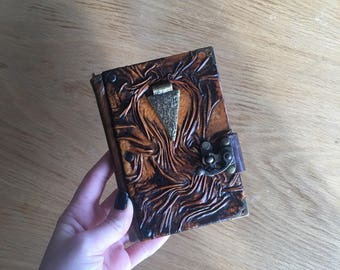 Steampunk Journal, Leather Journal, Leather Notebook, Leather Sketchbook, Diary