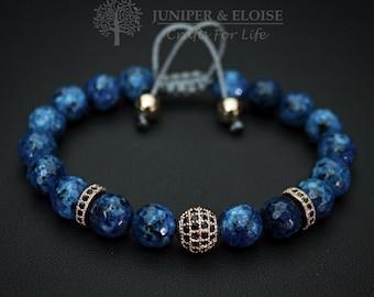 Mother's Day Gift , Mens Bracelet, Womens Jewelry, Blue Bracelet, Disco Ball, Armband, Zircon Bracelet, Braccialetto, Pulsera