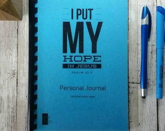 Christian Journal, Prayer Journal, Blank Pages, Devotional Journal