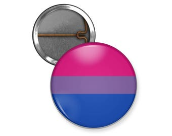 Bisexual Pride Pin, Bisexual Pride Flag Button Pin, Magnet, LGBT Pride Flags