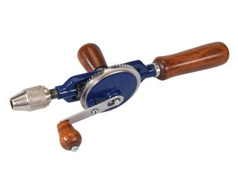 Double Pinion Hand Drill 290mm Hardwood Handles 6mm, 3 -jaw chuck.Free uk postage) (32)