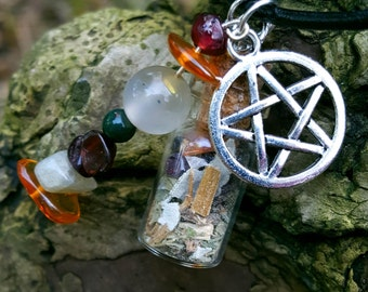 Pagan protective Charm necklace