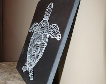 Hand painted Sea Turtle Slate