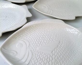 Whittier Pottery Fish Plate, USA