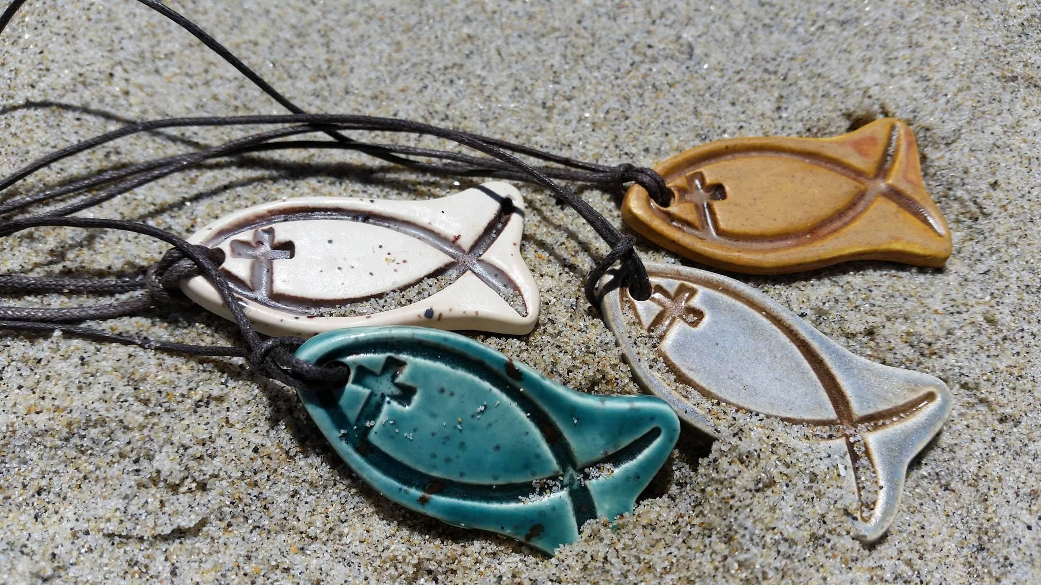 Christian fish symbol essential oil diffuser necklace zoom biocorpaavc Choice Image