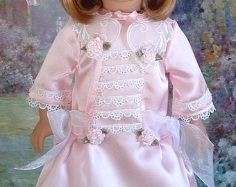 Pink Satin Party Dress for Nellie or Samantha