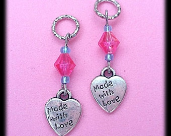 Hearing Aid Charms:  Made With Love (also available in matching Mother Daughter Set)!