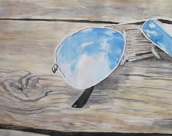 Reflections, original watercolor painting
