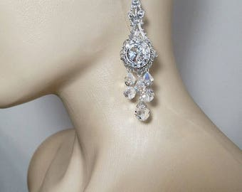 Wedding Earrings, Bridal Jewelry, Wedding Jewelry, Chandelier Earrings, crystal chandelier earrings, bridesmaids gifts,