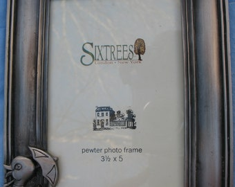 """Sixtrees Pewter Duck Picture Frame-Fits 3.5"""" x 5"""" picture"""