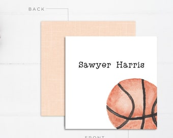 Boys Calling Cards | Kids Calling Cards | Basketball Gift Tags | Mommy Calling Cards | Playdate Cards | Mommy Cards | Personalized Gift Tags