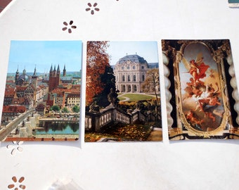 Lot Three vintage postcards from Wurzburg