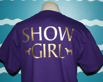 Custom Sheep shirt - personalized sheep show t-shirt - show girl sheep shirt - Livestock sheep show girl tshirt