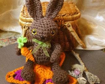 Easter Rabbit Bunny Crochet Doll Amigurumi OOAK
