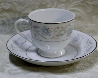 English Garden Fine China 1221 Japan Footed Cup with Saucer