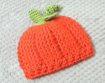Pumpkin Hat, Halloween Hat, Baby Pumpkin Hat, Pumpkin Costume, Halloween Costume, Jack-O-Lantern Hat, Autumn Hat,  Photo Prop, Baby Gift