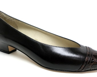 NEW Vintage Size 6 B  Amalfi Brown Pumps or Shoes