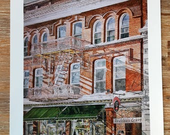 Kingston Balconies, Watercolor print