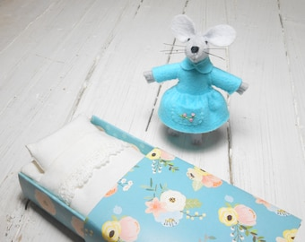 Felt mouse felted animals bjd animal miniature doll kids mouse in matchbox