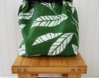 Lunch Tote - Lunch Tote for Women - Insulated Lunch Bag -  Insulated Lunch Tote Insulated - Lunch Tote Bag - Tropical Leaves Print