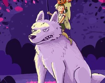 Princess Mononoke Miyazaki Fanart Greeting Card