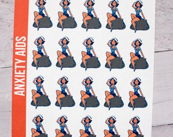 Hey Sailor Pinup Planner Stickers