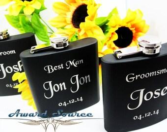 1 Groomsman Flask, Groomsmen Gift, With Free Engraving