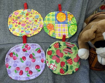 Table Protector Pot Pads Pillows, Assorted Fruits n Berries Prints