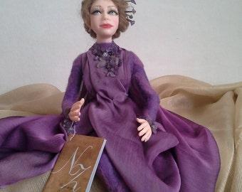 caractéristique de la poupée art doll poupée autoriale intérieur Doll «Amethyst»
