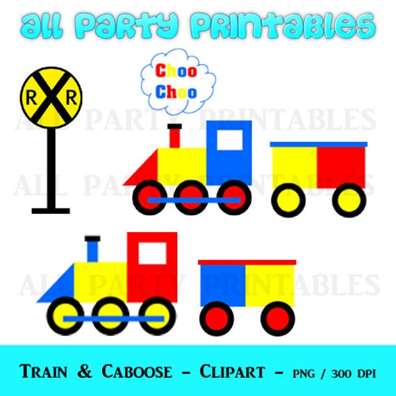 train clipart train clip art train graphics railroad rh etsy com caboose clip art free line leader caboose clipart