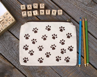 dog lover gift, dog pencil case, dog coin purse, dog school supplies, Personalized pencil case, dog zipper Pencil Pouch, dog lover gift, dog