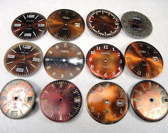Vintage Watch Faces - set of 12 - c68