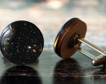 men cufflinks , galaxy cufflinks , space cufflinks , astronomy cufflinks , nebula cufflinks , glass cufflinks , wood cufflinks