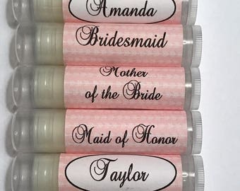 Bachelorette Lip Balm, Bachelorette Party Favors, Bridal Party Personalized lip balms, Survival Kit Lip Balms