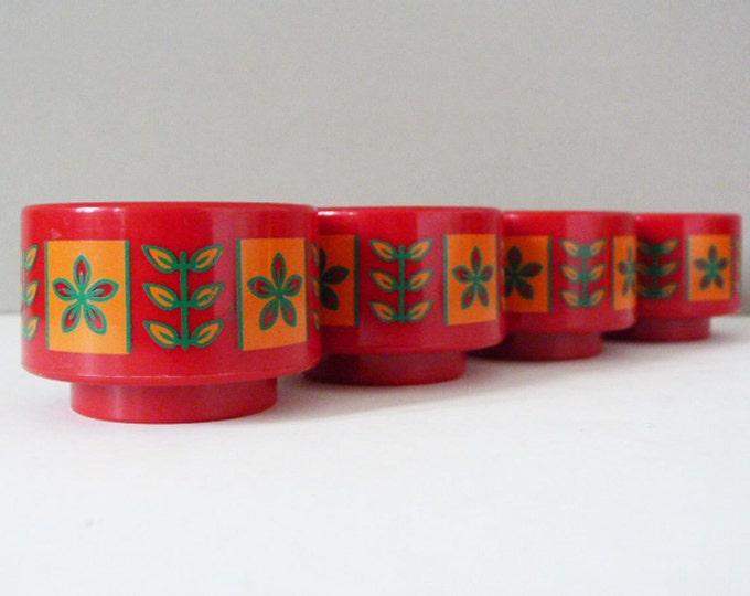 1970's vintage plastic scandinavian egg cups