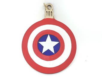 Hand-painted Christmas Bauble - Captain America