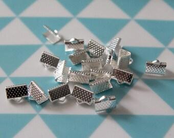 Set of 50 caps setting 10 mm for MULTISTRAND silver bracelets