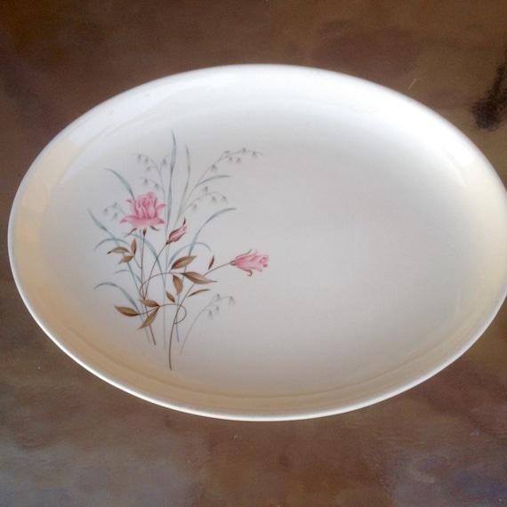 rose servierplatte wei porzellan teller floral platte. Black Bedroom Furniture Sets. Home Design Ideas
