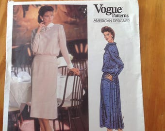 Albert Nipon vogue vintage sewing dress pattern
