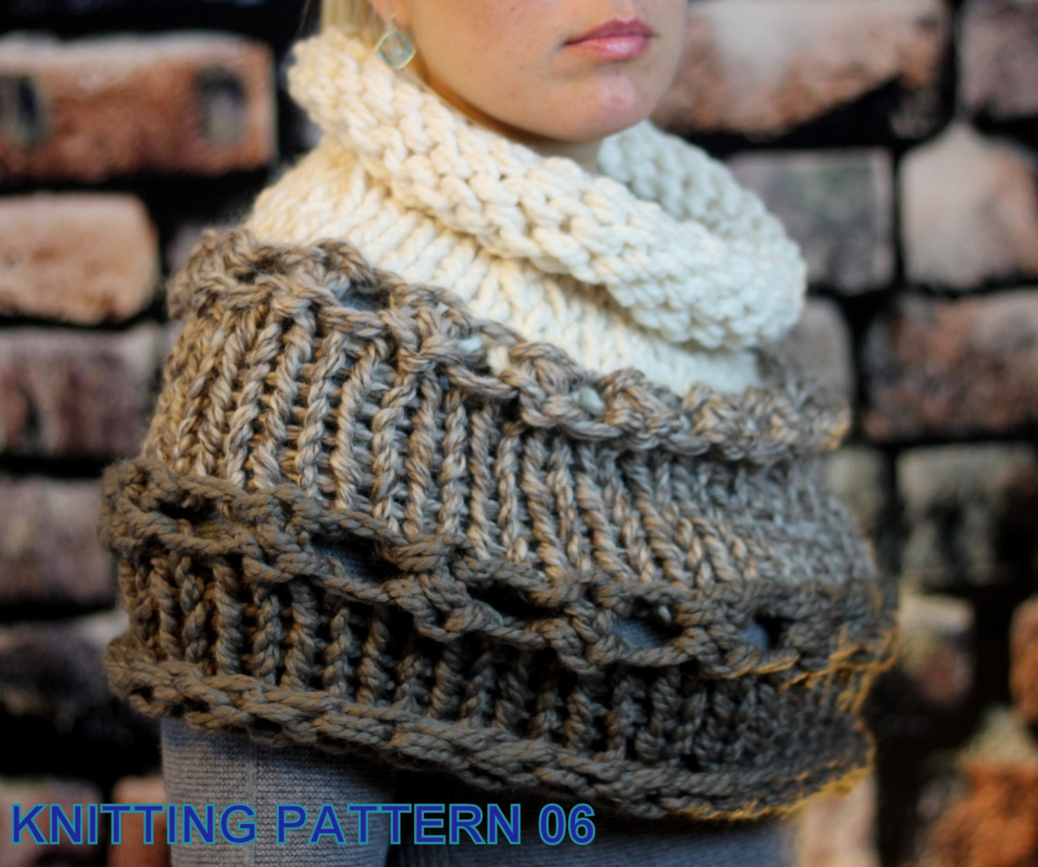 Knitting pattern - Beginner / Hand Knit Outlander and Katniss Inspired Cowl, Cape, Snood, Shoulder Wrap, Office Snuggy
