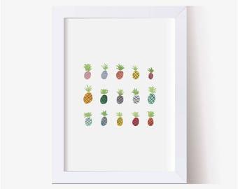 Pineapple Painting, Pineapple Art, Watercolor Picture Pineapple, Pineapple Print, Pineapple Decor, Pineapple Pictures, Mini Pineapple